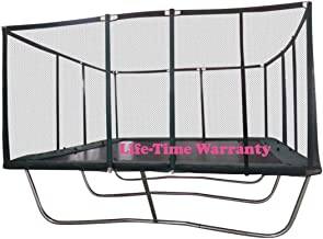 Happy Trampoline - Gymnastic Outdoor Adults Kids Rectangle Trampoline with Net Enclosure - High Performance Commercial Gra...