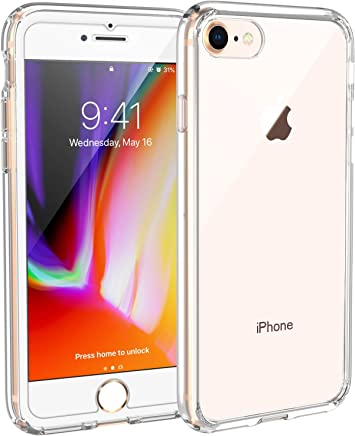 Syncwire Coque iPhone 8 / iPhone 7 UltraRock Series - Housse Rigide de Protection avec Protection Avancée Contre Les Chutes et Technologie Coussins d'air pour iPhone 8/7 - Ultra Transparent
