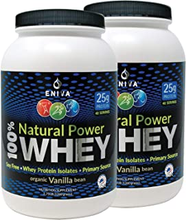 Sponsored Ad - ENIVA Natural Power 100% Whey Protein Powder, Organic Vanilla, Clean Protein for Everyone & Keto, High Prot...