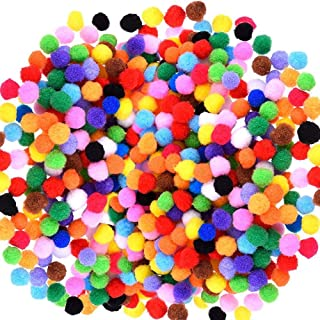 Caydo 2400 Pieces Pom Poms for Crafts 1cm Small Pompoms Multicolor for Arts and Crafts Hobby Supplies