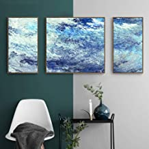 Nordic Style, Entrance/interior Painting, Abstract Art Pattern, PS Picture Frame, Waterproof Art Micro-spraying Process, Three Sets Of Oil Painting Canvas Core Well-made (Size : S)
