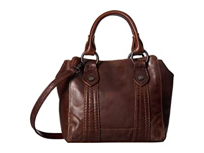 Frye Melissa Mini Tote Crossbody (Dark Brown) Handbags