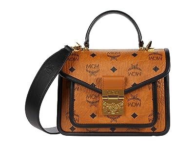 MCM Patricia Visetos Leather Block Satchel Small (Cognac) Wallet