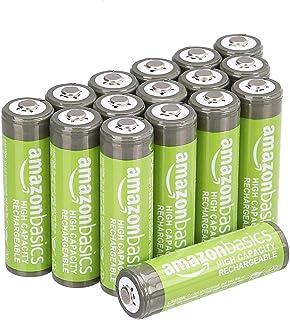 AmazonBasics Voorgeladen Ni-MH batterijen, 500 cycli (typisch 2500 mAh, minimaal 2400 mAh), (buitenste hoes kan afwijken v...