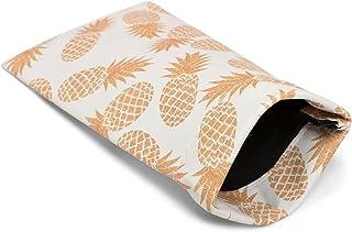 styleBREAKER Étui pour lunettes de soleil avec imprimé ananas et chiffon de nettoyage, étui avec fermeture à cliquet 09020076