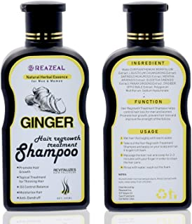 Hair Regrowth Shampoo,Anti-Hair Loss Shampoo, Natural Old Ginger Hair Care Shampoo for Hair Growth and Strengthener - Hair Loss Treatment, Organic Hair Regrowth,for Women Men
