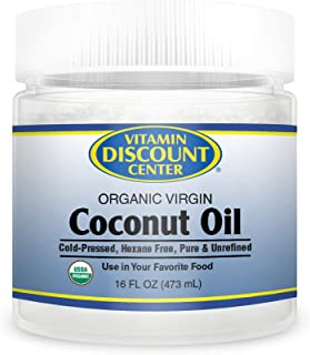 Vitamin Discount Center Organic Virgin Coconut Oil, 16 oz