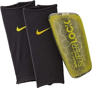 Nike Unisex Mercurial Lite Superlock Shinguard, Dark Grey/Volt, Small (4'11