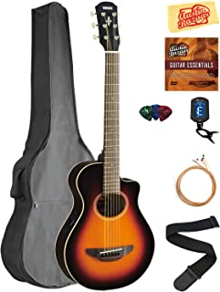 Yamaha APXT2 3/4-Size Acoustic-Electric Guitar - Old Violin Sunburst Bundle with Gig Bag, Tuner, Strings, Austin Bazaar Instructional DVD, Picks, and Polishing Cloth