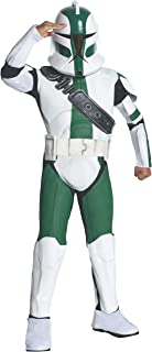 Rubies Star Wars Clone Wars Child's Deluxe Commander Gree Costume and Mask, Large
