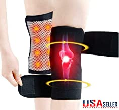 2PCS Tourmaline Self Heating Knee Pad Magnetic Therapy Knee Support Belt Brace US by Superjune