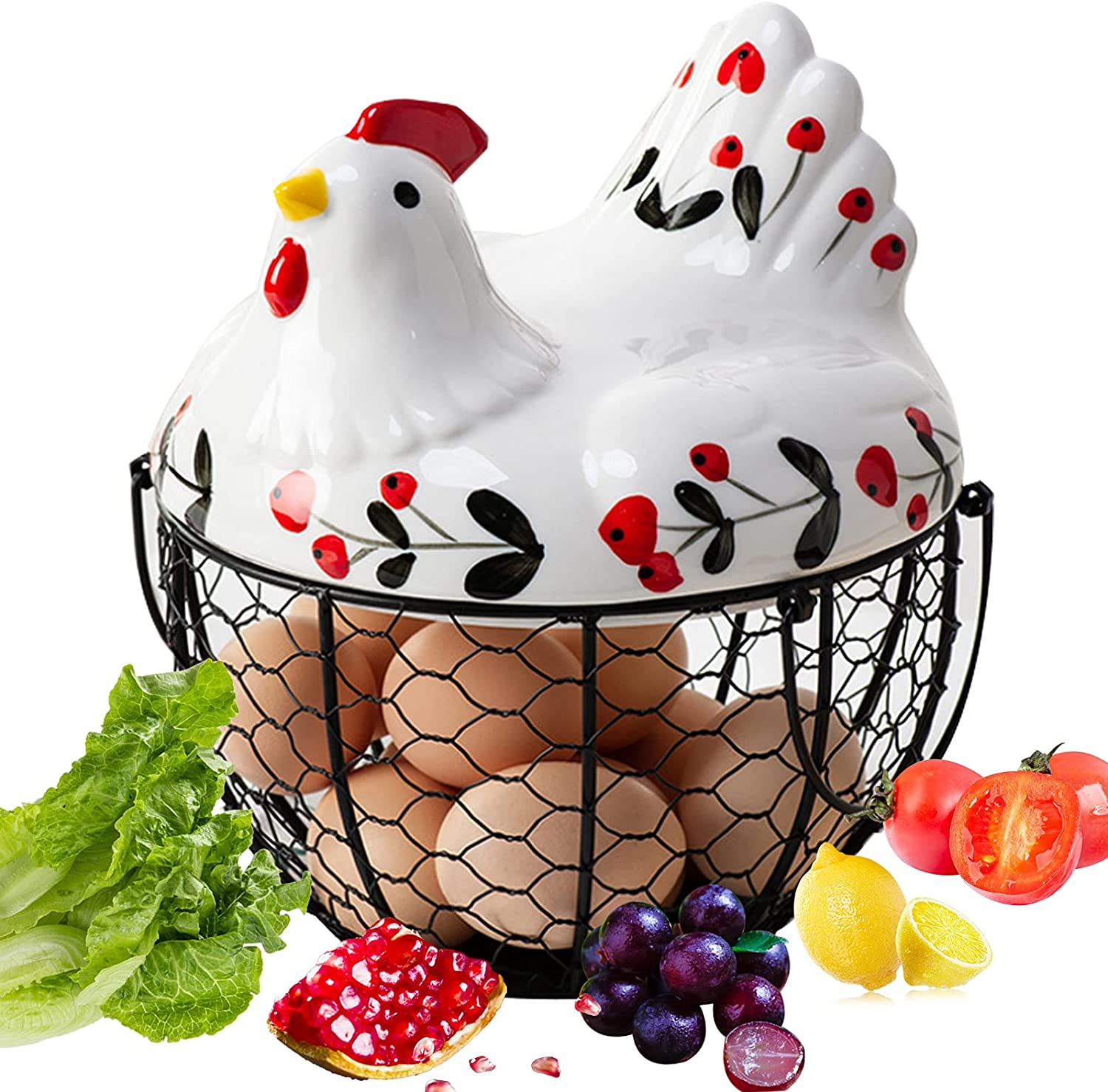 Chicken Egg Basket Wire Jacksonville Mall Now free shipping Collection Gathering Baskets Fr for
