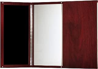 Mayline Medina Presentation Board with Dry Erase Center Panel, Mahogany Laminate