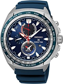Men's Prospex World Time Solar Chronograph Watch with Power Reserve