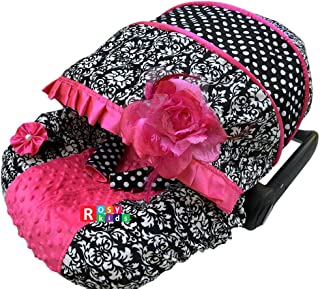 Rosy Kids Infant Carseat Canopy Cover 3 Pc Whole Caboodle Baby Car Seat Cover Kit C080200