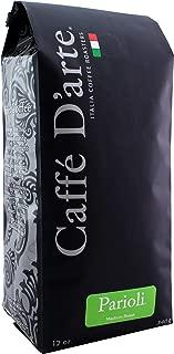Caffé D'arte - Parioli Premium Espresso Blend Coffee, Medium Roast, Whole Bean, Authentic Italian Style, Handcrafted in Small Batches for Flavor, Kosher. 12 oz Bag