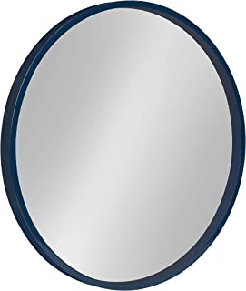 Kate and Laurel Travis Round Wood Accent Wall Mirror, 21.6