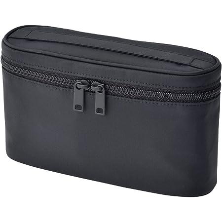 無印良品 ナイロン手付ポーチ・薄型 黒・約12.5×20.5×6cm 02869076