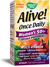 Nature's Way Alive! Once Daily Women's 50+ Multivitamin, Ultra Potency, Food-Based Blends (80mg per serving), 60 Tablets