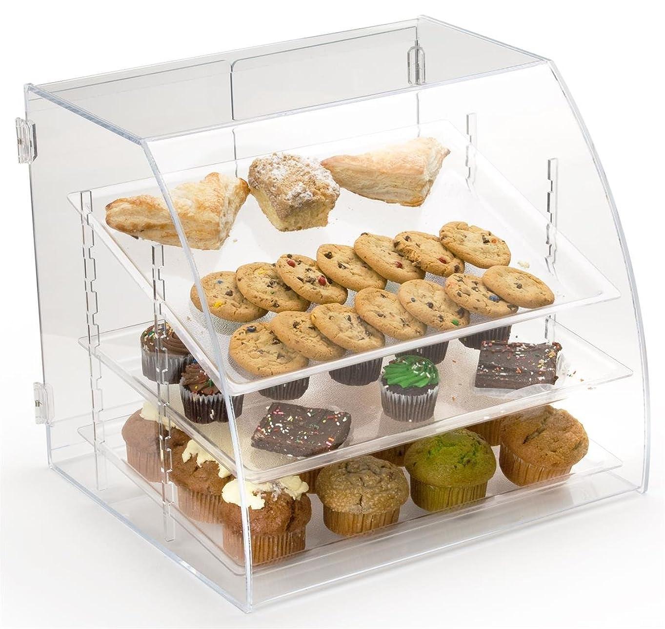 タンパク質小川崖Pastry Display Case with 3取り外し可能な棚、背面Loading?–?19?