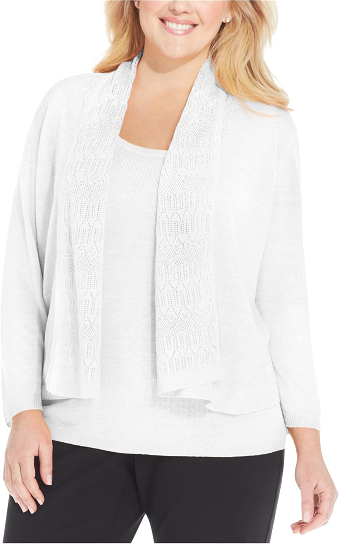 Jones New York Womens Pointelle Cardigan Sweater