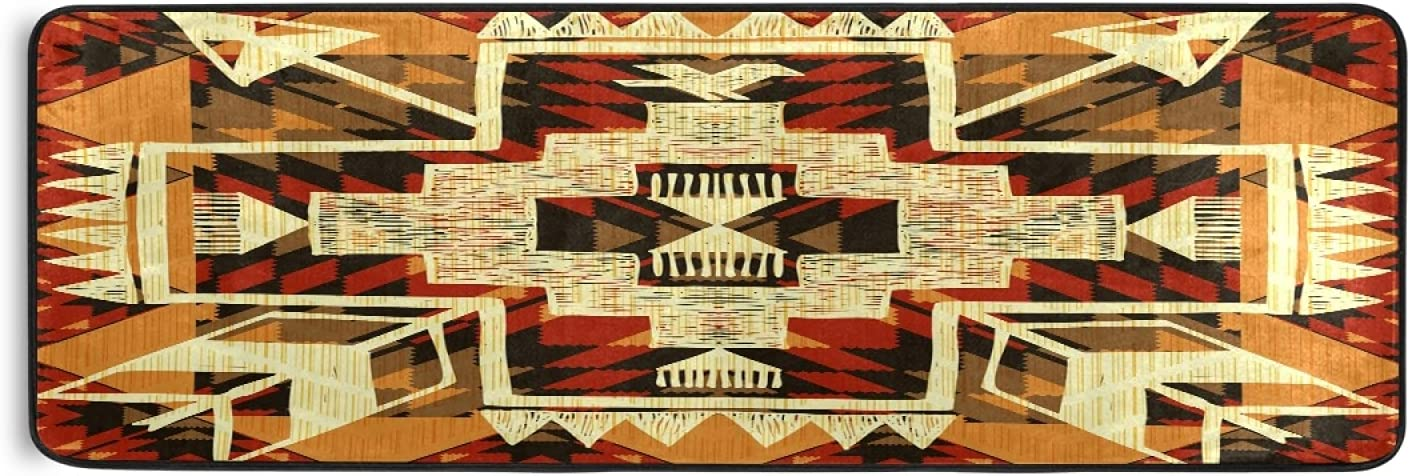 Nander Native American Chicago Mall Style Design Hallway Rug Selling and selling Kitchen Runner