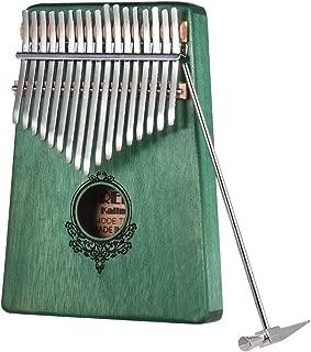 17キーのカリンバポータブルサムピアノカリンバ愛好家や初心者に最適な高品質のウッドボディ楽器 (绿)