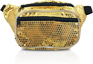 Gold Sequin Sparkly Shinny Fanny Pack (Sequin Gold)
