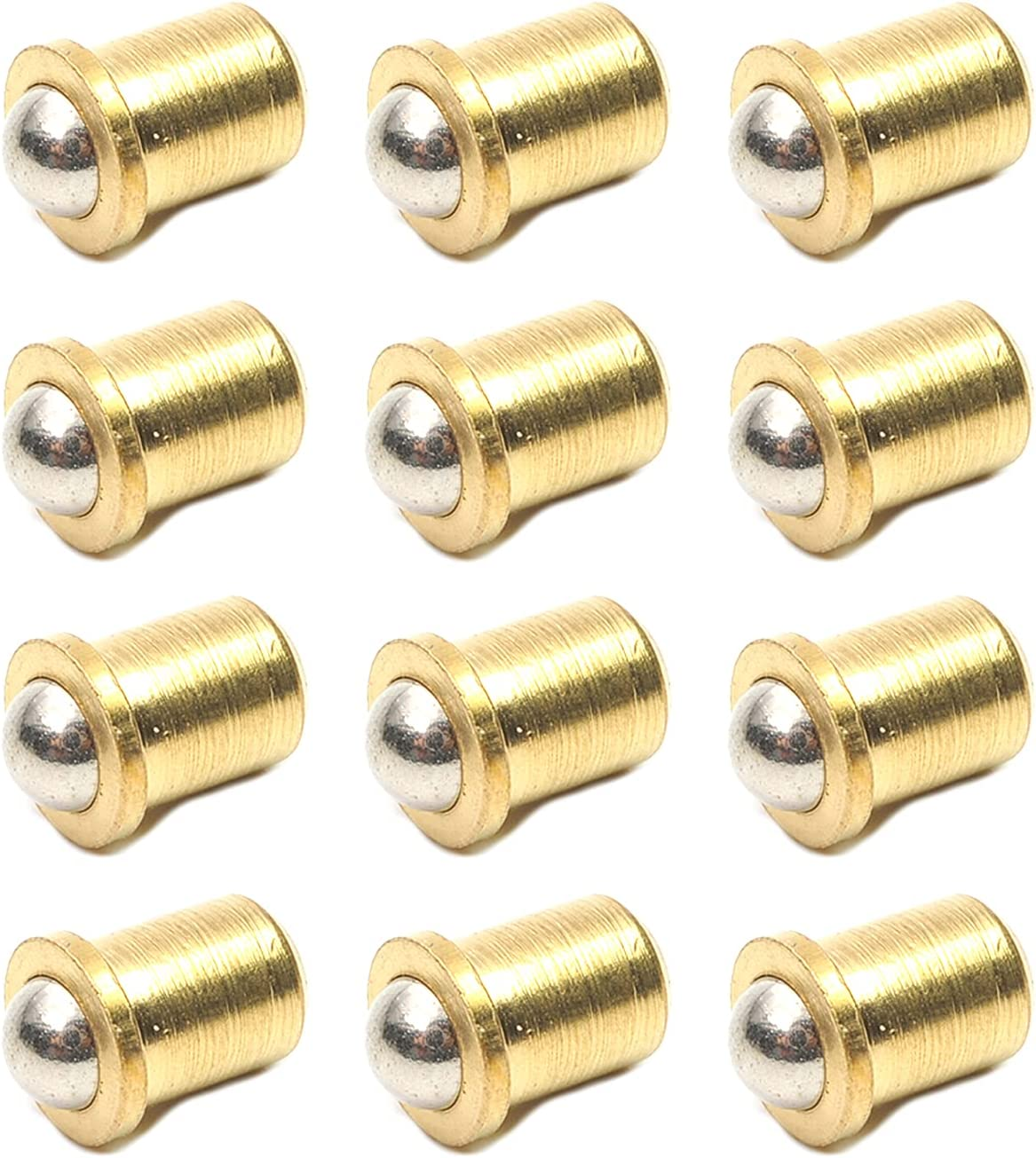 MroMax Max 85% OFF Ball Dia Brass Electroplating Catch Cabinet Door Lat Clearance SALE! Limited time!