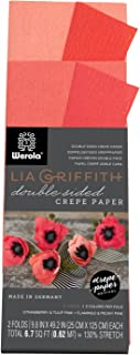 Lia Griffith Double Sided Crepe Paper Folds Roll, 6.7-Square Feet, Strawberry and Tulip Pink, Flamingo and Peony Pink (LG11021)
