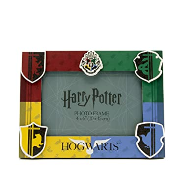 """Silver Buffalo Harry Potter House Pride 3D MDF Photo Frame, 4"""" x 6"""", Multicolored"""