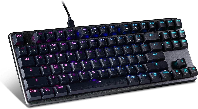 Tecware Phantom Many popular brands L Low Max 59% OFF Profile LED RGB Keyboard Out Mechanical