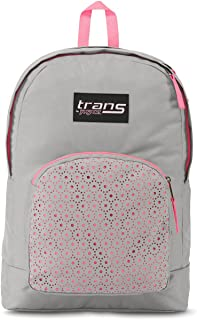 Trans by JanSport Overt 17.5 Laser Lace Backpack - Gray/Pink