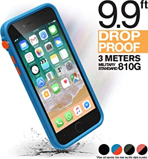 iPhone 8 Case Shock Proof Impact Protection by Catalyst, with Wrist Strap Lanyard Rugged Apple Phone case [iPhone 7 Compatible], Wireless Charging, Drop Protective, Mute Switch - Blueridge/Sunset