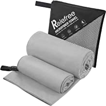 Relefree Microfiber Towels(2 Pack),Yoga and Gym Towels Quick Dry, Super Ultra Absorbent, and Compact Suitable for Travel C...