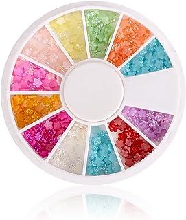 Glow Nail Art Decorations Pearl Flower Design