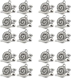 D DOLITY 20pcs Bricolaje Colgantes Cuentas de Formas Animales DIY Abalorios de Manualidad - Caracol