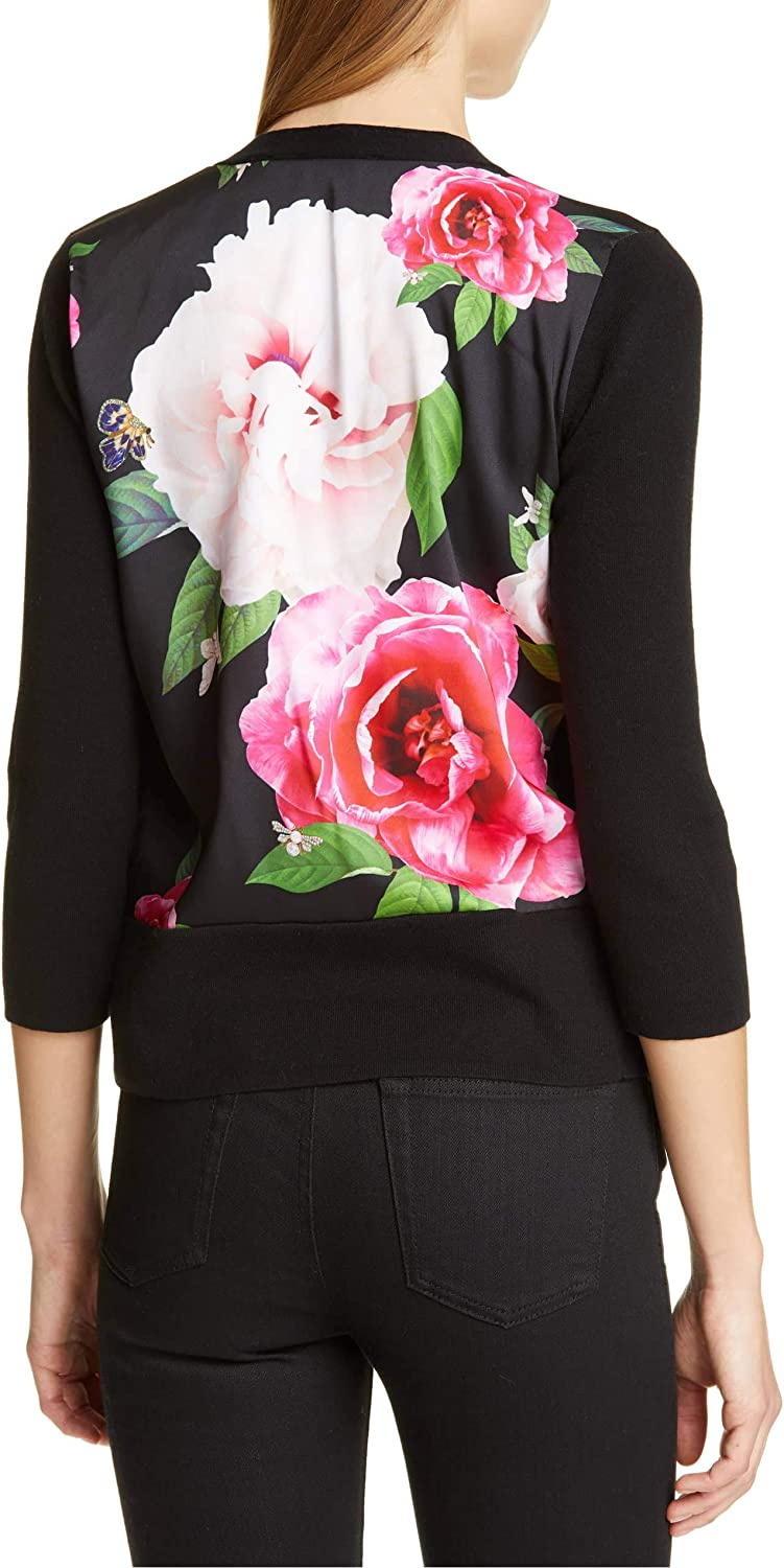 Ted Baker Black Montayn Magnificent Printed Cardigan