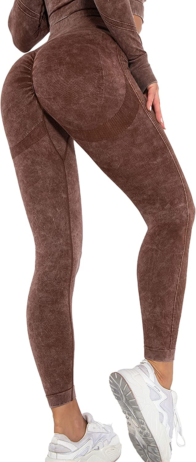 MAGIMODAC Scrunch Butt Lifting Leggings High Waisted Tummy Control Seamless Booty Lift Fitness Yoga Pants Workout Tights