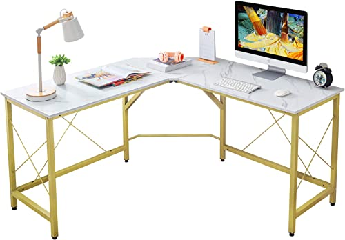 "Mr IRONSTONE L-Shaped Desk 59"" Computer Corner Desk, Home Gaming Desk, Office Writing Workstation, Space-Saving, Easy..."