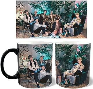 Bosunshine - 2019 BTS FAMILY PORTRAIT Magic Color Changing Coffee Mug Cool Tea Unique Heat Changing Sensitive Cup(H01)