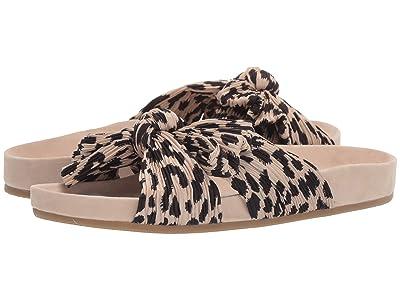 Loeffler Randall Caro Pleated Knot Sandal (Leopard Pleated Fabric) Women