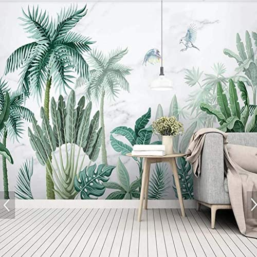 comprar ahora YYBHTM Tropical Hojas Hojas Hojas De Palma Fondo De PanTalla Mural Decoración De La Parojo Papel Pintado Decoración del Hogar Selva verde Planta Hoja Pintura Mural  barato