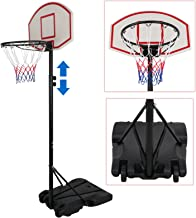 ZENY Portable Kids Youth Basketball Hoop Backboard System Stand w/Wheels Adjustable Height 5.4ft - 7ft Indoor Outdoor