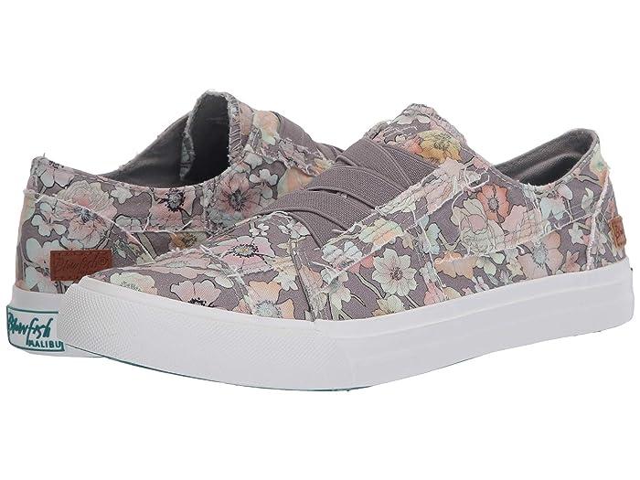 Blowfish  Marley (Gray Gypsy Canvas) Womens Flat Shoes
