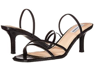 Steve Madden Loft Heeled Sandal (Black Snake) Women