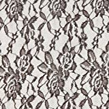 Fabulous Fabrics Spitze dunkelbraun, Blume, 150cm breit