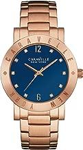 Caravelle New York 44L202 Ladies Boyfriend Rose Gold Steel Bracelet Watch
