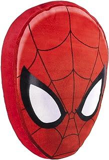 وسادة الوجه الكلاسيكية Jay Franco Marvel Spiderman - مقاس 14 بوصة x 9 بوصة x 3 بوصة من ألياف البوليستر فائقة النعومة (منتج...