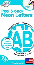252 PC Peel and Stick Letters & Numbers, 1